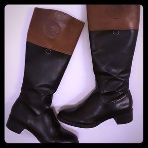 Etienne Aigner Cognac & Black boots SIZE 8